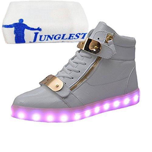 (Présents:petite serviette)JUNGLEST® - Baskets Lumin Vernis High-Top Blanc