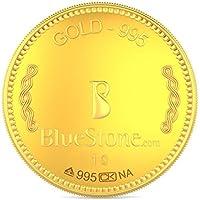 BlueStone BIS Hallmarked 1 grams 24k (995) Yellow Gold Precious Coin