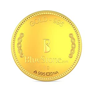 BlueStone BIS Hallmarked 1 grams 24k (995) Yellow Gold Precious Coin
