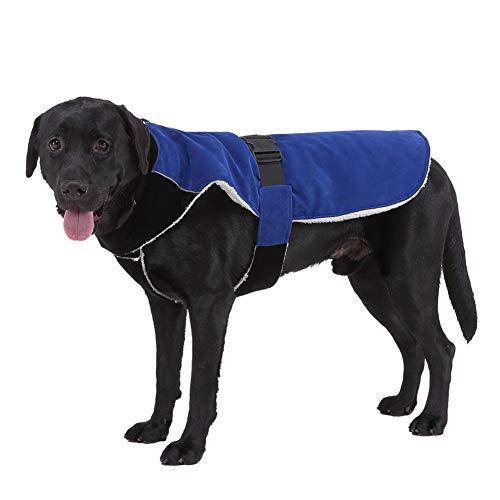 Handfly Ropa para Perros para Perros medianos y Grandes Chaqueta Impermeable para Perros Abrigo para Perros con Orificio para arnés Abrigo para Perros de Invierno Chaqueta para Perros