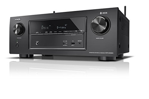 Denon AVRX3400H 7.2 Surround AV-Receiver und HEOS Integration (Dolby Vision Komtabilität, Dolby Atmos, dtsX, WLAN, Bluetooth, Amazon Music, Spotify Connect, 4K/60Hz 8 HDMI Eingänge, 7x 180 W) schwarz Receiver Denon Avr