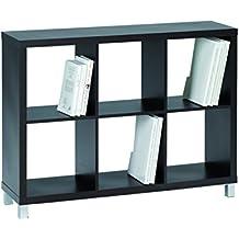 Kit Closet Kubox - Estantería, 6 huecos, color negro