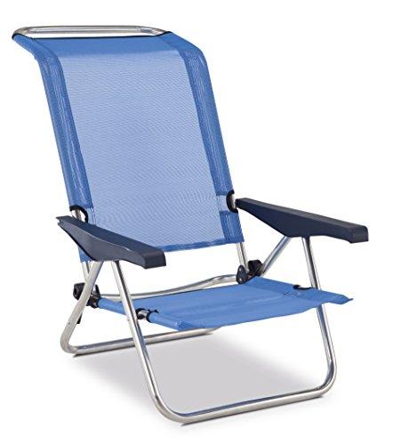 Eredu 991/TX - Chaise Plage Lit Positions Aluminium 77 x 60 x 83 cm