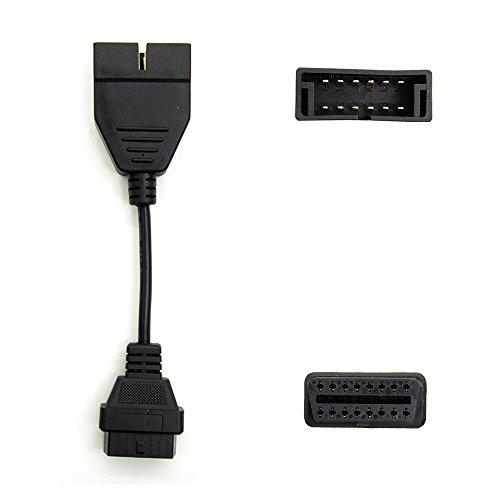 OBD2gm 12pines Cable, mastertool OBD2Cable de extensión para GM 12pines a 16pin hembra OBD1OBD2conector adaptador de diagnóstico para vehículos GM/coche herramienta de diagnóstico