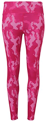 Workwear World - Leggings sportivi -  donna Camo Hot Pink
