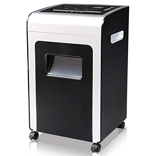 Jianghuayunchuanri Business, Home-Office-Aktenvernichter Kleine Elektrische Scheibenmahlwerk Kann Die Luft Reinigen Schredder Für zu Hause oder im Büro (Farbe : Black, Size : 33x20.3x51cm)