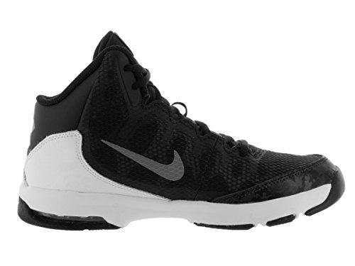 Nike Air Without A Doubt (Gs) Jungen - Schwarz, versilbert, Weiß (Black / Mtllc Slvr-Flt Slvr-Wht)