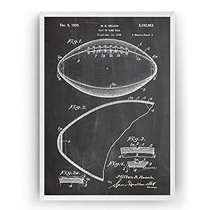 Amerikanischer Fußball 1939 Patent Poster – American Football Jahrgang Drucke Drucken Bild Kunst Geschenke Zum Männer…