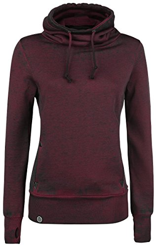 R.E.D. by EMP High Neck Burnout Felpa donna bordeaux 4XL