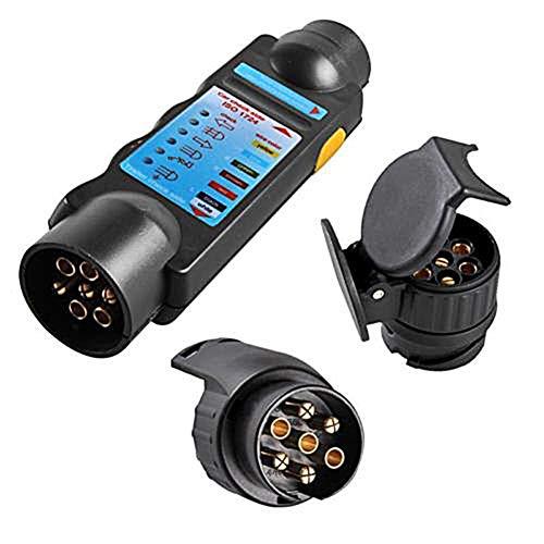 PerGrate Durable 12 V 7-Pin Auto LKW-anhänger Steckdose Tester Verdrahtung Schaltung Licht Test-Tool mit Adapter