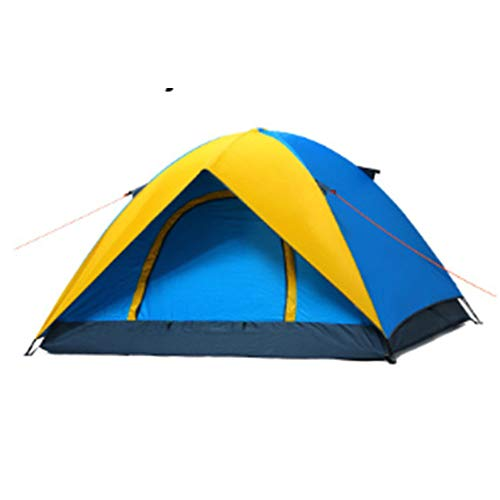 ZYF Family Camping Family Outdoor Style 2-4 Personen Campingzelt Ultraleicht Anti UV Sun Shelter Wasserdicht,Color-1