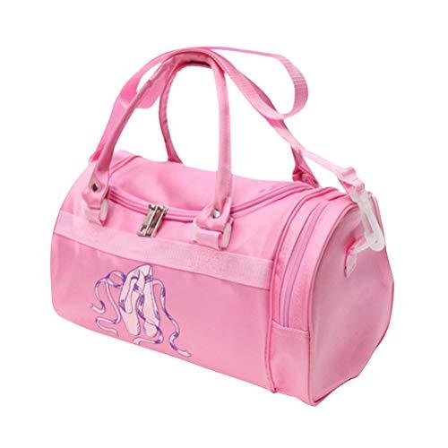 FENICAL Duffle Bag Ballerina Dance Bag Ballett Crossbody Taschen mit Seitenfach für Mädchen Frauen (Pink) Ballerina Duffle Bag