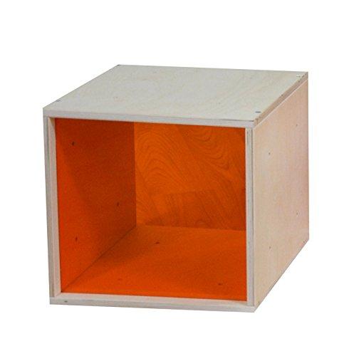 iCube das Regal mit oranger Plexiglasscheibe in PREMIUM QUALITÄT