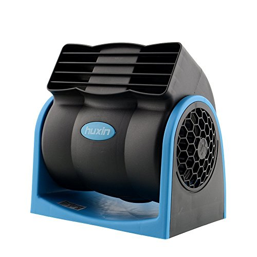 Gearmax® 12V Auto Kfz Lüfter Ventilator Gebläse Klimaanlage Fan Fahrzeug kühlerer Ventilator Desktop leise (Blau)
