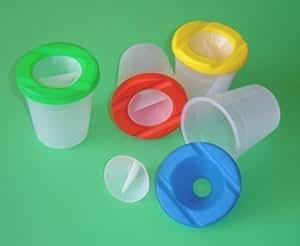 Non-Renverser pots de peinture pour enfants, 4 pots