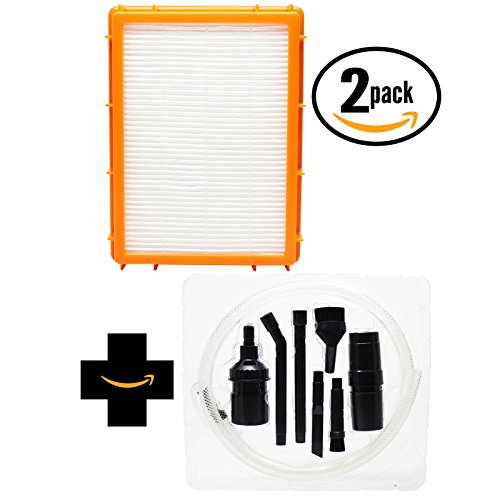 2-pack sostituzione filtro HEPA aspirapolvere Eureka 4870AV con 7Micro-Kit di fissaggio, compatibile Eureka HF-2Filtro HEPA