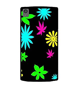 Printtech One Plus X Back Cover Floral weed Pattern Printed Case