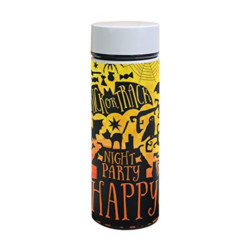 EZIOLY Happy Halloween Vakuumisolierte Edelstahl-Tasse Wasserflasche Reise Kaffee Thermos 350 ml