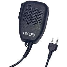 Coodio Midland Radio Micrófono 2 Pin Micro Altavoz Auriculares [Grande] [3,5mm Auricular Plug] Policía Seguridad y Bodyguard Para 2-Pin Midland Plug Walkie-Talkie Transceptor Emisor y Receptor PMR