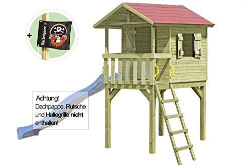 Gartenpirat Stelzenhaus Baumhaus Spielhaus JUSTIN aus Holz von Gartenpirat®