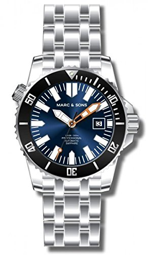 MARC & SONS Professional Automatik Taucheruhr, Mechanical Diver Watch – MSD-030