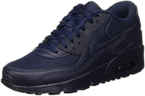 Nike Boys' Air Max 90 Mesh (Gs) Sneakers, Blue (Obsidian/Obsidian), 6 UK