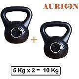 AURION KETTEL-5KG X 2 Kettle Bells Home Gym 5 kg - 12 kg