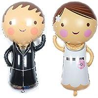 2 Unids globos novio y novia ideales para la decoracion de tu boda, en cada mesa de invitador, en la de niños, en carrito de chuches o en los asientos.... ...