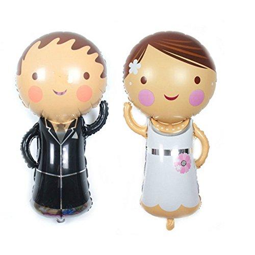 2 Unids globos novio y novia ideales para la decoracion de tu boda, en cada mesa de invitador, en la de niños, en carrito de chuches o en los asientos.... mil ideas aniversarios jardines escaparates de CHIPYHOME