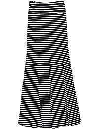 8f52b130545e Ba Zha Hei röcke Frauen asymmetrische hohe Taille gestreiften Falten über  Stretch Lange Maxi Fashion Womens