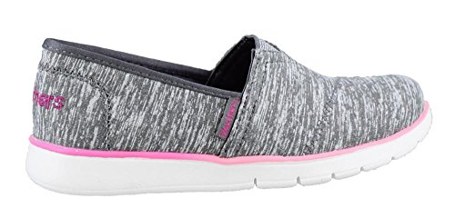 Skechers Girl's, Pureflex Jersey Joys Slip on Shoes Gray 10. 5 M