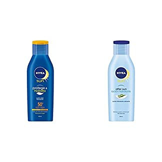 Lote Nivea Sun: Crema Solar Hidratante FP50 400 ml + Loción After Sun 400 ml