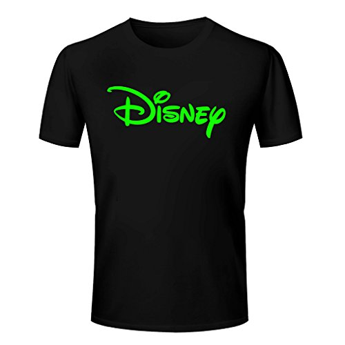 Thunder T Shirt - Disney Logo With Ball Printed Cotton T Shirt - Disney T Shirt - BLACK Cotton T Shirt