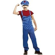 My Other Me - Disfraz de súper plumber para niño, 5-6 años, color rojo (Viving Costumes 202224)