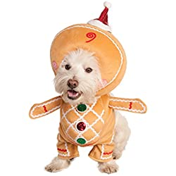 Rubies Costume Walking Gingerbread Man Pet Costume, Medium