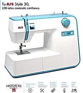 web barata: Alfa Hogar Maquina De Coser Style 30 Zig-Zag,Domestica, Azul