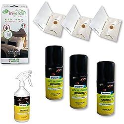 Kit completo Nuisipro–Tratamiento insecticida contra las chinchetas de cama, Action choque + préventive,