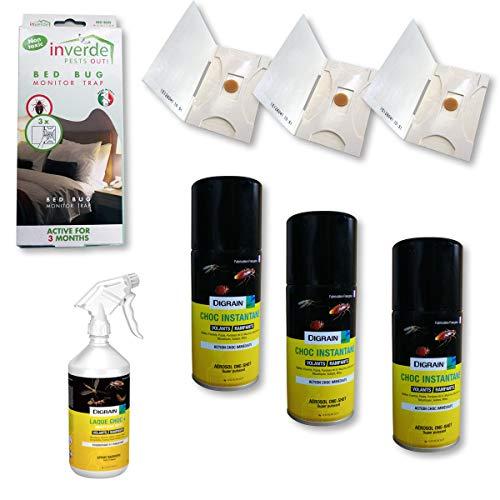 Nuisipro - Kit insetticida completo, trattamento anti-cimici da letto, azione shock e...