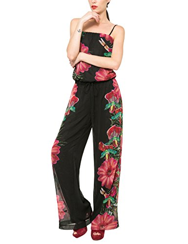 Desigual BARACK-Tuta Donna    Nero (NEGRO 2000) 44 IT