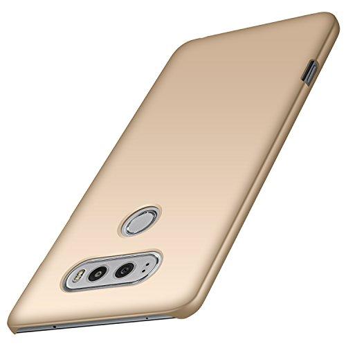 anccer LG V20 Hülle, [Serie Matte] Elastische Schockabsorption und Ultra Thin Design (Glattes Gold)