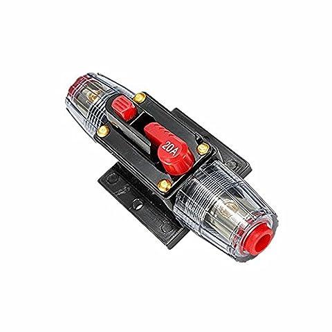 Hensych® DC 12 V 20 A Voiture Audio Inline Disjoncteur pour Système de Protection Fusible