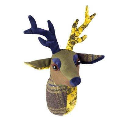 Dora Designs la Collection Patchwork Home Accessories Décoration murale en tête de cerf trophée Buxton