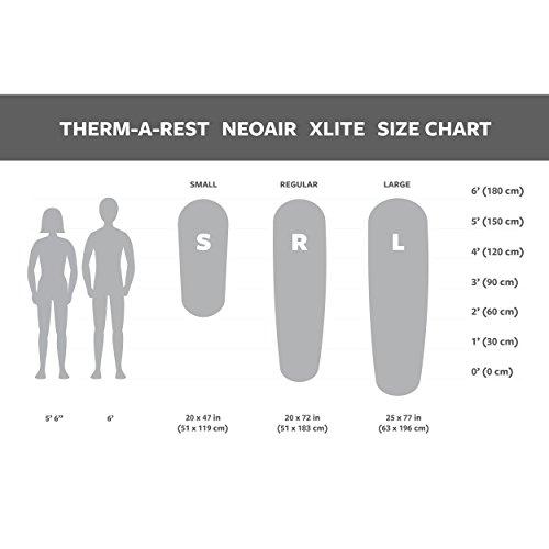 NeoAir Xlite – Modell 2015 – ultraleichter, kompakter Komfort Größe R (6,3 x 51 x 183 cm) - 5