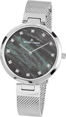 Jacques Lemans Reloj Analógico para Mujer de Cuarzo con Correa en Acero Inoxidable 1-2001J