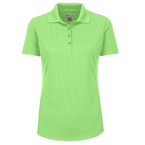 Greg Norman Collection Frauen Short Sleeve Protek aus Mikro-Piqué Polo, Grün (Piqué Golf-polo Frauen)