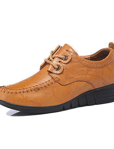 ZQ Scarpe Donna - Stringate - Ufficio e lavoro / Formale / Casual / Serata e festa - Zeppe - Zeppa - Di pelle - Marrone , brown-us8.5 / eu39 / uk6.5 / cn40 , brown-us8.5 / eu39 / uk6.5 / cn40 brown-us8.5 / eu39 / uk6.5 / cn40