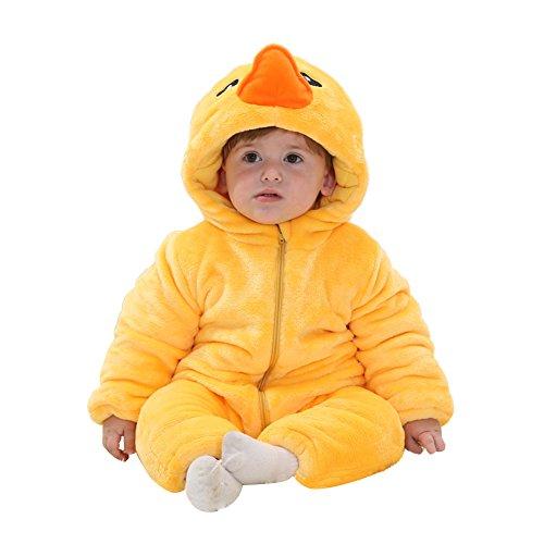 Freefisher Baby Overall aus Fleece, baby Kostüm Ente,12-18 Monate (Ente Kostüme Für Baby)