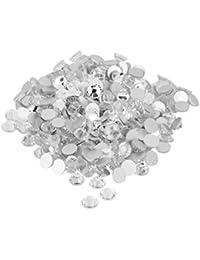1400pcs / SS16 Cristal De Vidrio Redondas Pedreria Parte Posterior Plana Gemas Acrilico Blanco
