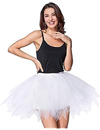 Imixcity Donna Retro Annata di 50 Anno Tutu Gonna Balletto di Danza Principessa Sottogonna per Il Partito di Prom in 4 Strati Organza Tulle