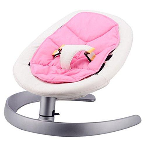 LZTET Schaukelstühle Baby-Schaukelstuhl Baby-Cradle-Stuhl Bequeme Stuhl Schaukelstuhl Kinder-Shaker Schlafen mit Ihrem Baby Ihr Kind Schlafen Artefakt,Pink (Stuhl-pads Schaukelstühle)